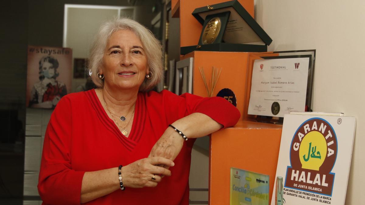 Isabel Romero, directora del Instituto Halal, en su despacho de Córdoba.