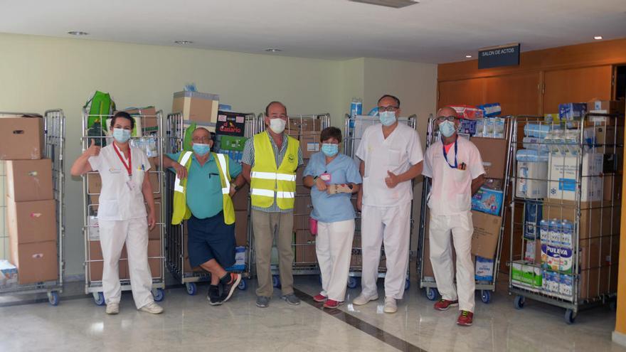 El Insular-Materno Infantil colabora con el Banco de Alimentos con 1.700 kilos de comida