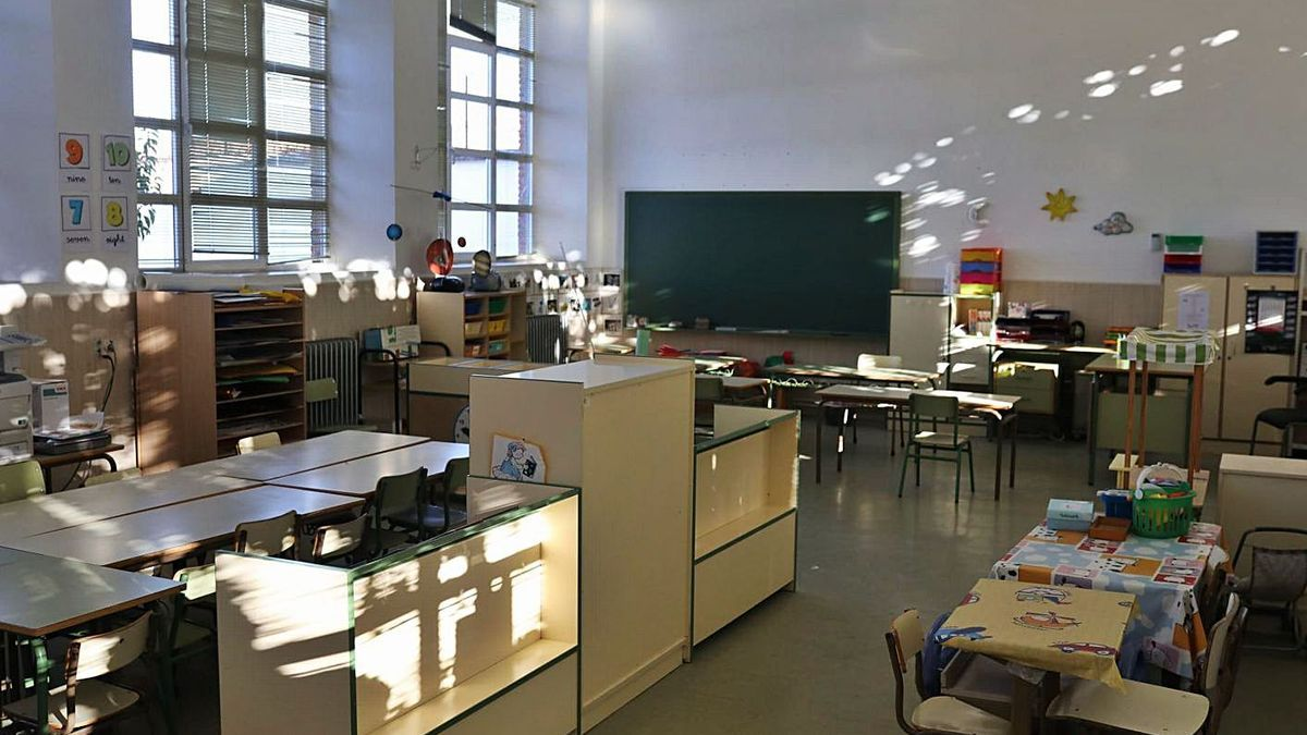 Interior del colegio de La Hiniesta, perteneciente al CRA de Tierra del Pan.