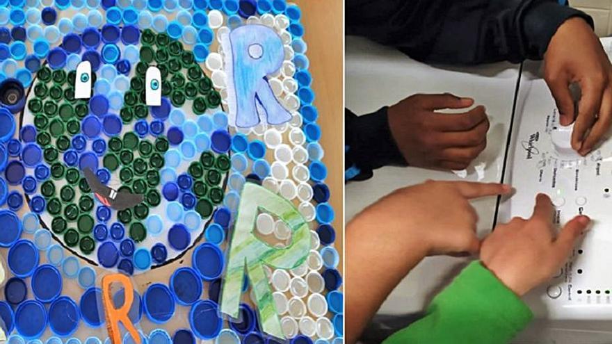 El colegio Parga Pondal, pionero en trabajar el ciclo completo del plástico en el aula