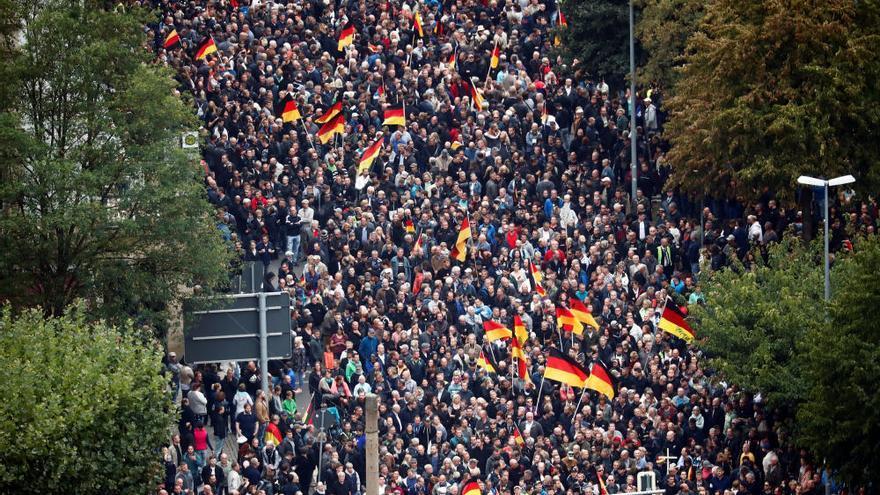 Enorme tensión en Chemnitz por una marcha de miles de ultraderechistas