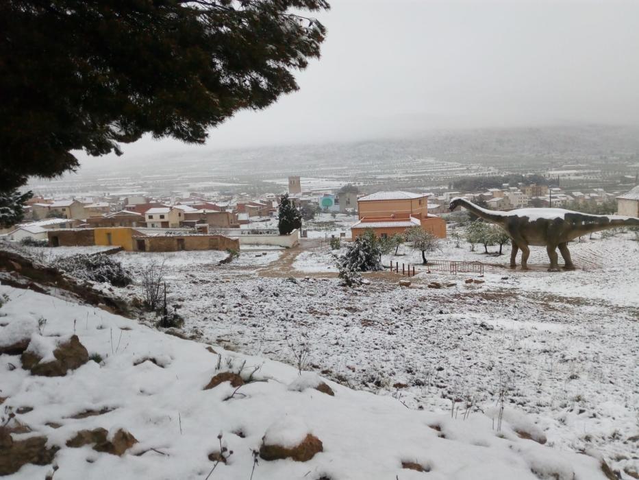 Marzo termina con nieve en Aras de los Olmos