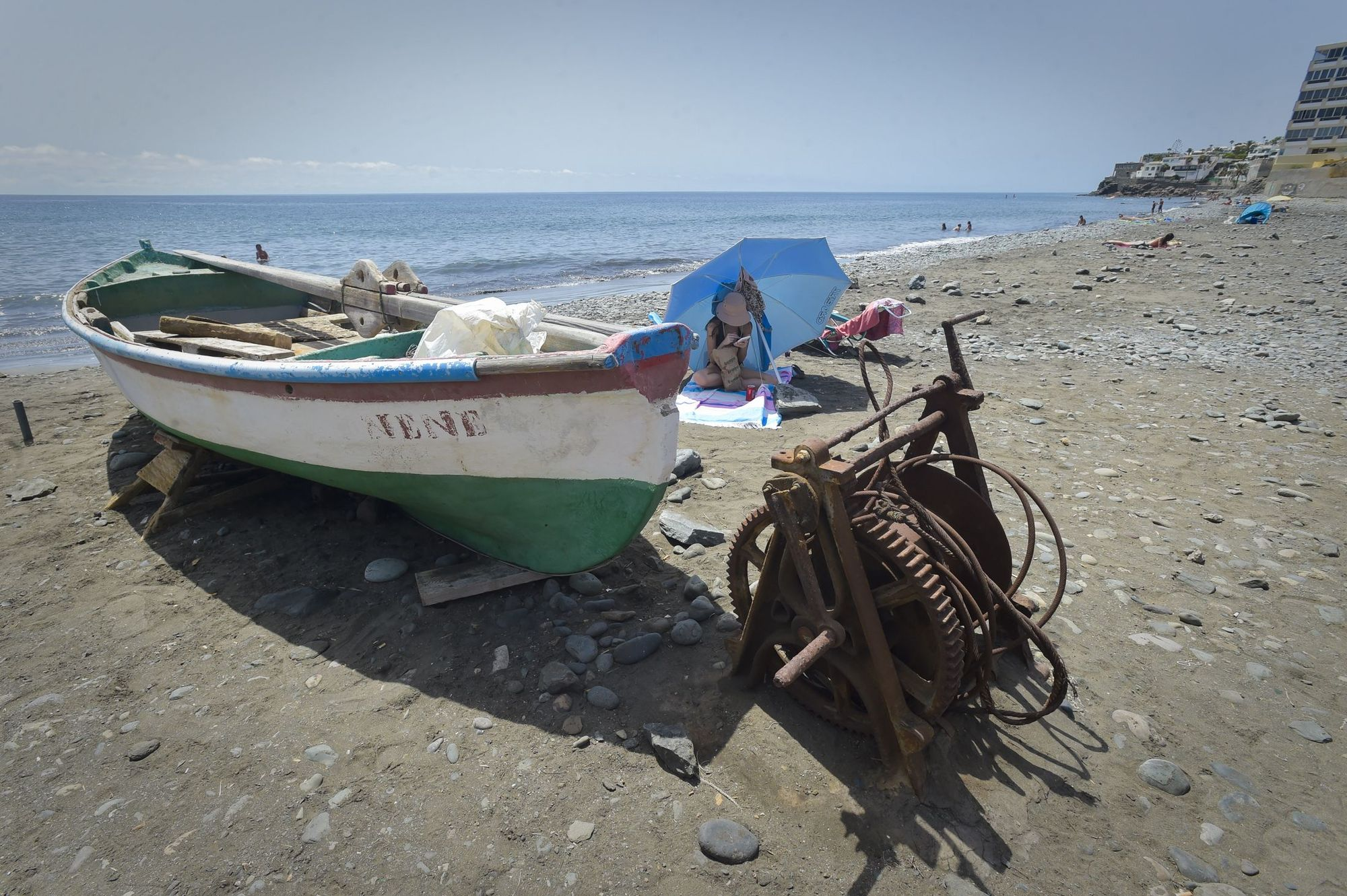 Playa del Águila, en el municipio de San Bartolomé de Tirajana (06/09/2021)