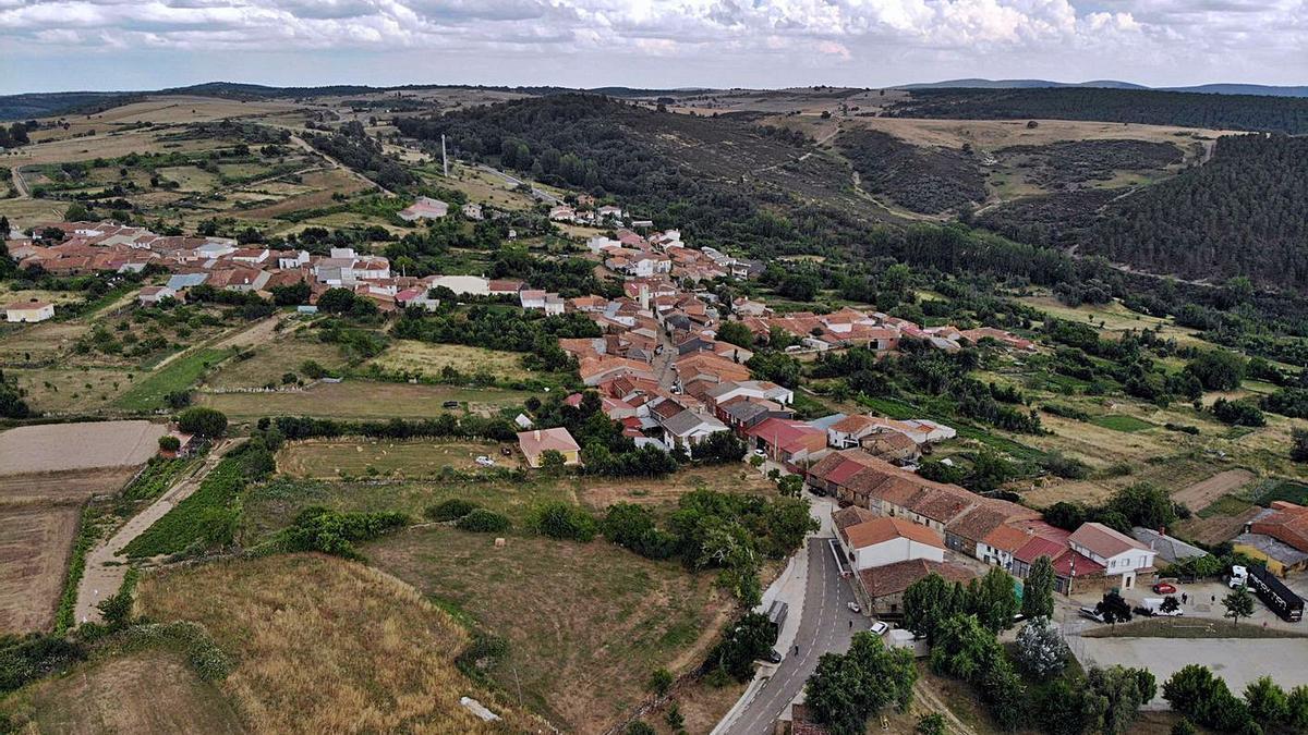 Vista aérea de la localidad de Viñas.   Ch. S.