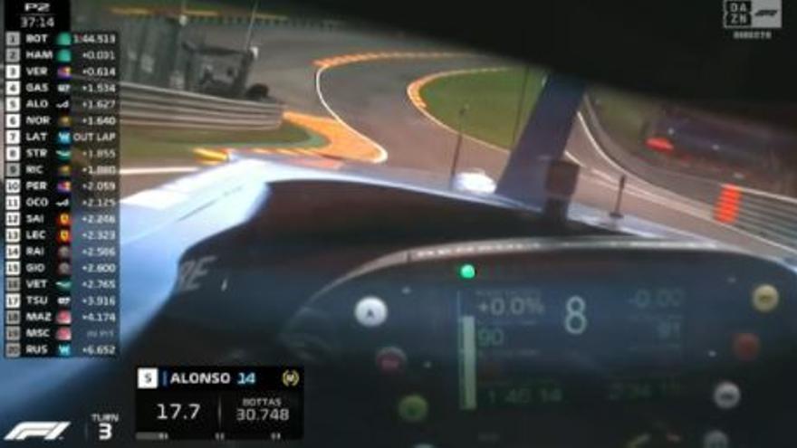 Vídeo: Alonso enseña la Fórmula 1 como nunca la habías visto