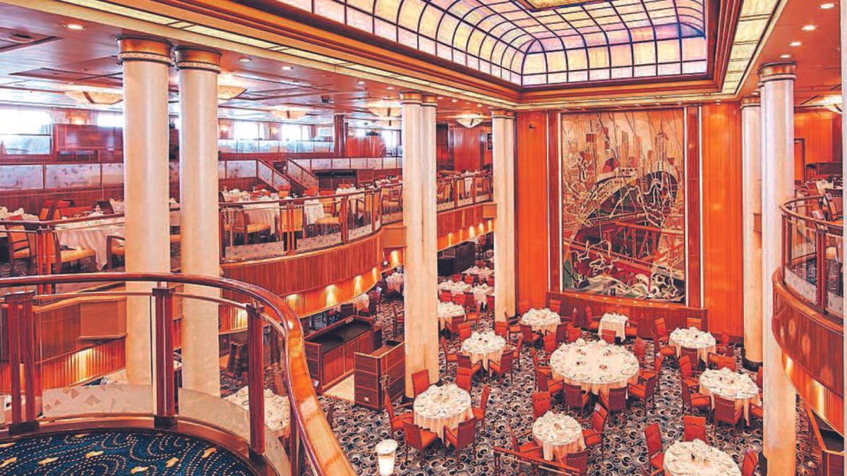 Restaurante principal del 'Queen Mary 2'.