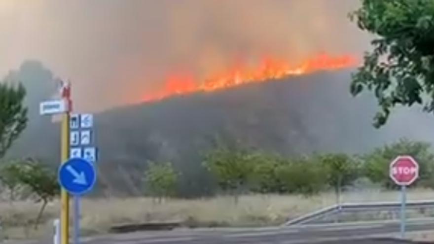 Estabilizado el incendio de Jalance que ha afectado a 40 hectáreas