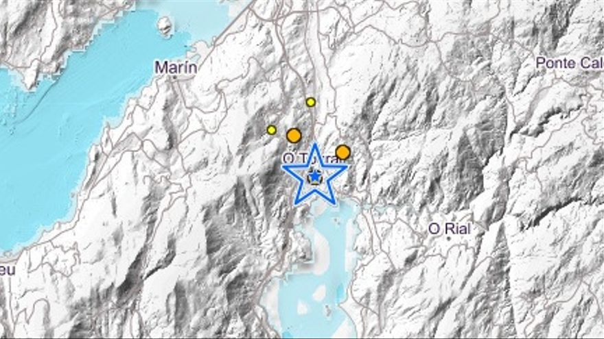 Cinco terremotos sacuden Vilaboa en cuatro horas