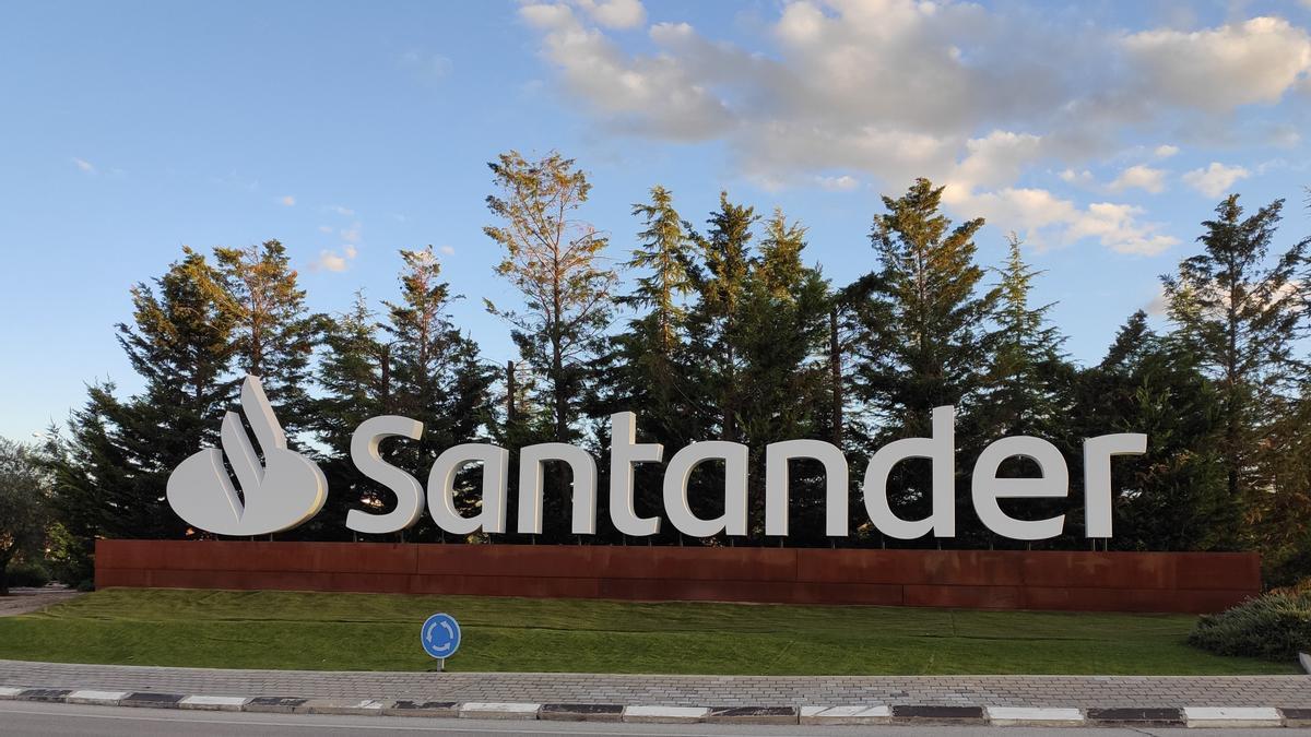 Imagen del logo del Banco Santander.