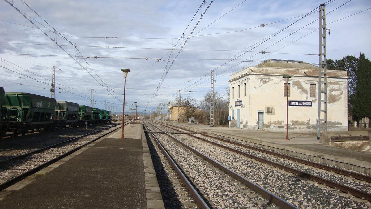 La plataforma logística se instalará en las proximidades de la estación ferroviaria de Tamarite