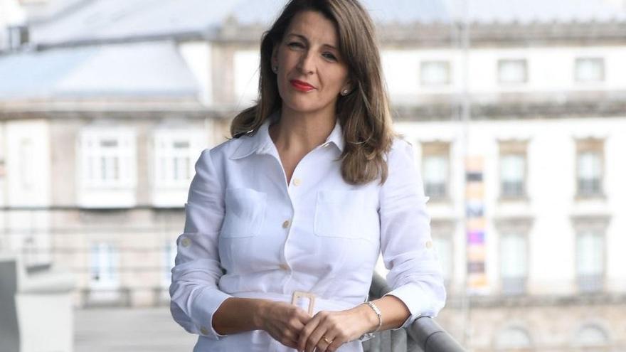 """Yolanda Díaz Pérez: """"La política de mejora de rentas es lo que permite que España crezca más que la UE"""""""