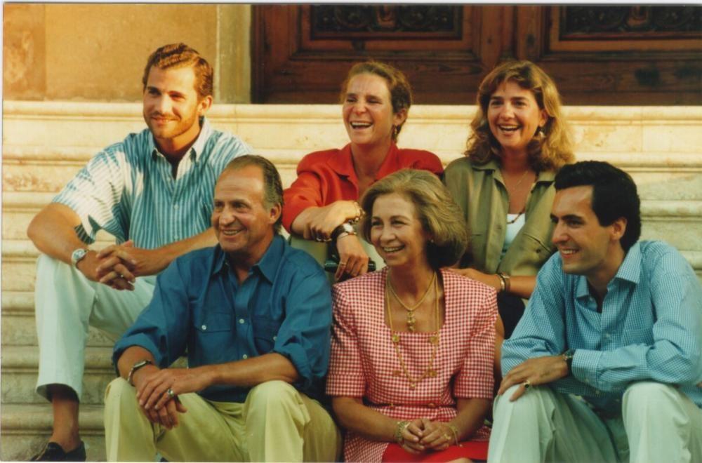 La familia real y Jaime de Marichalar en Marivent