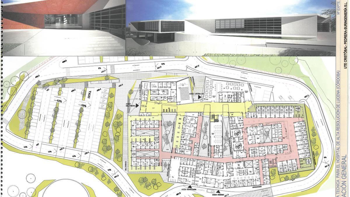 Infografía del plano y el alzado del futuro calle de Lucena.