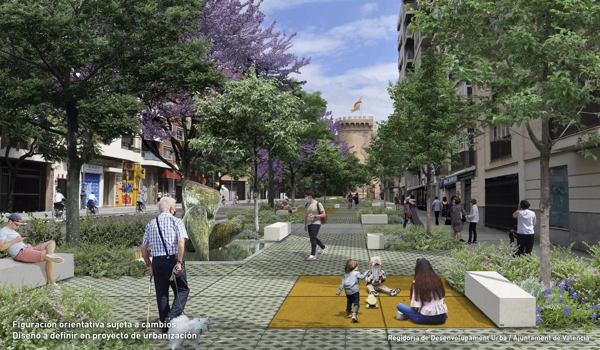 Así será el 'bulevar cultura', la ronda interior de València
