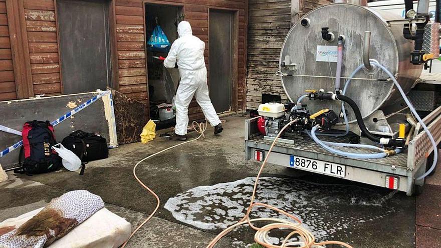 El Concello emplea más de 3.000 euros en desinfectar instalaciones en Rodeira