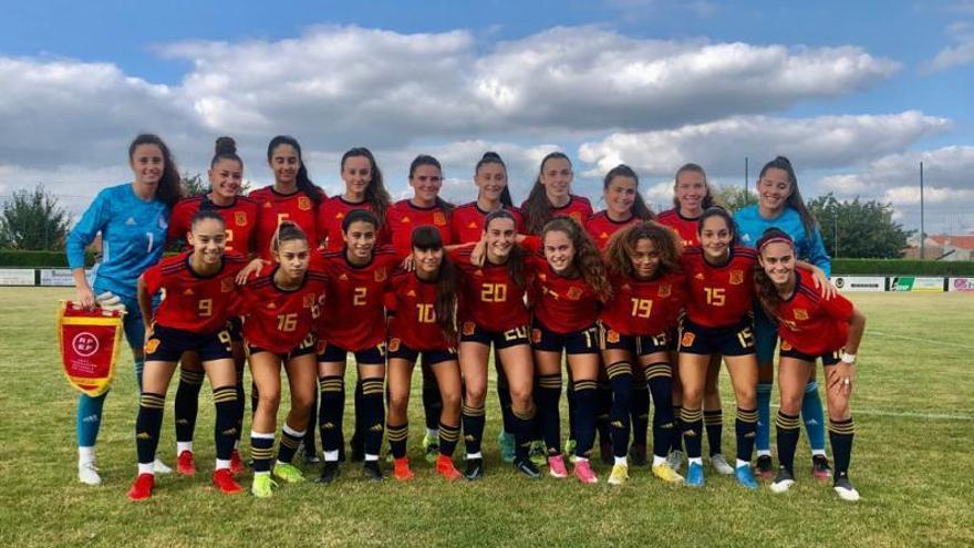 Corrales y Bermejo ayudan en el triunfo de la sub-17 de fútbol femenino ante el Rennes