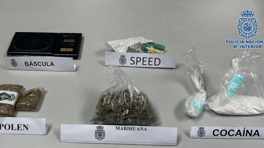 Cae un punto de venta de droga en Las Palmas de Gran Canaria en el que se despachaban cocaína, hachís y marihuana