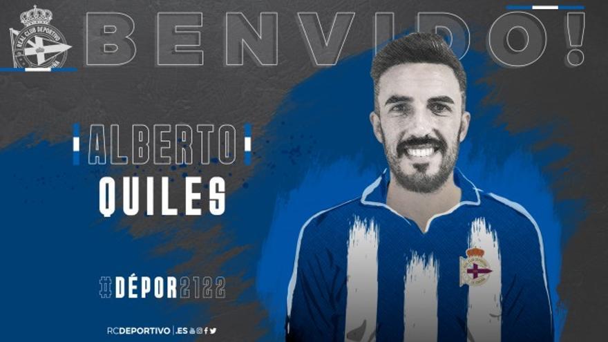 Alberto Quiles, cuarto fichaje del Deportivo
