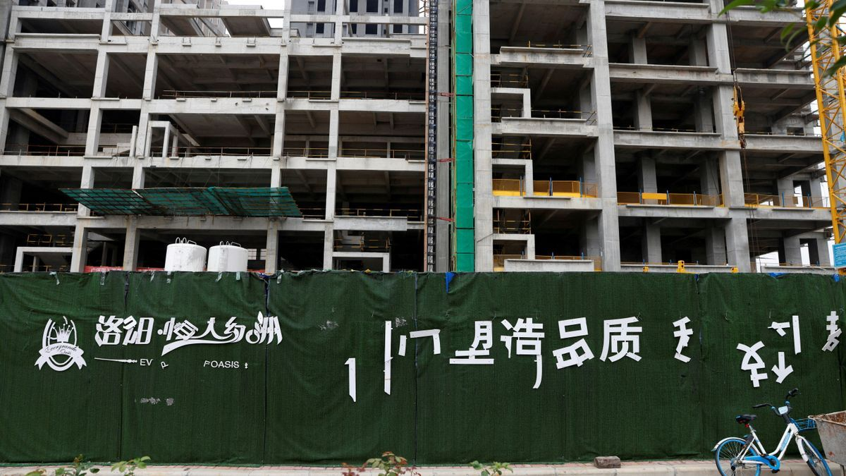 FILE PHOTO: Evergrande Oasis housing complex developed by Evergrande Group, in Luoyang