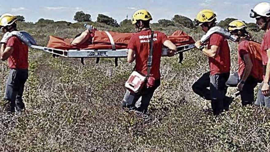 Rescate en Cala Varques