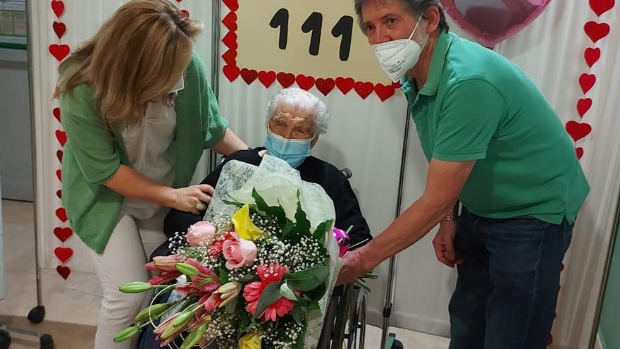Silveria Martín Díaz cumple 111 años en Villanueva de la Vera