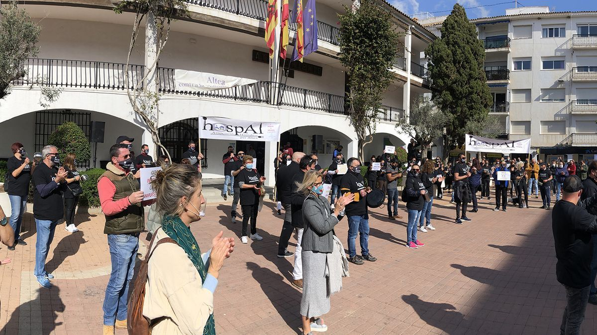 Protestas de los hosteleros