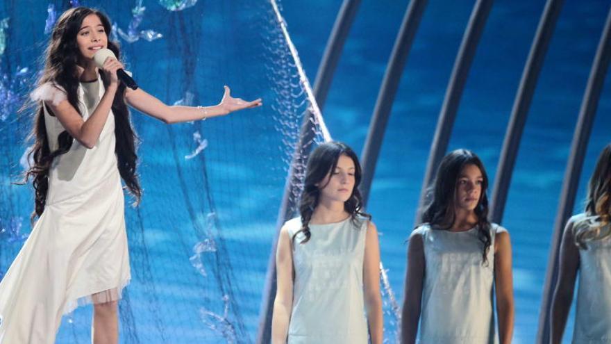 La valenciana  Melani canta hoy en la final de Eurovisión