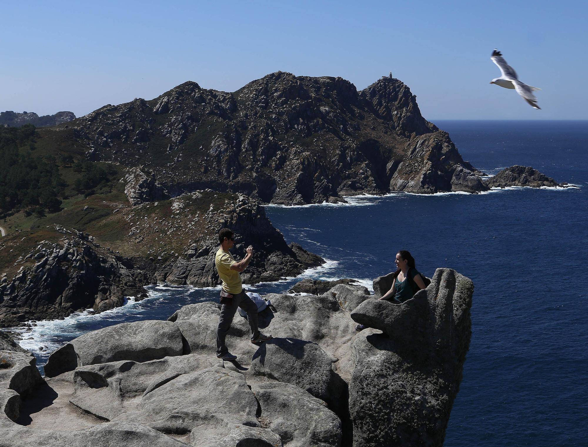 Alto do Príncipe y Silla de la Reina en las Islas Cíes