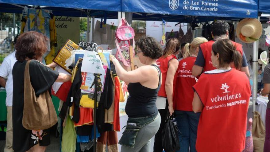 La solidaridad ocupa el parque San Telmo
