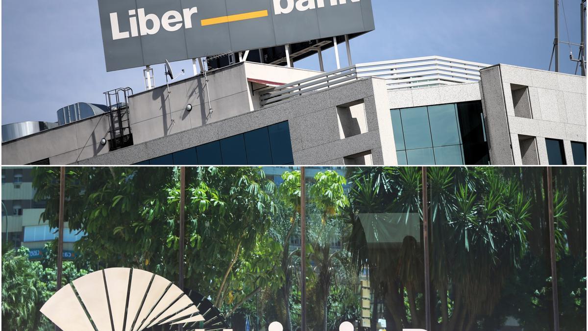 Archivo - Liberbank y Unicaja Banco notifican su fusión