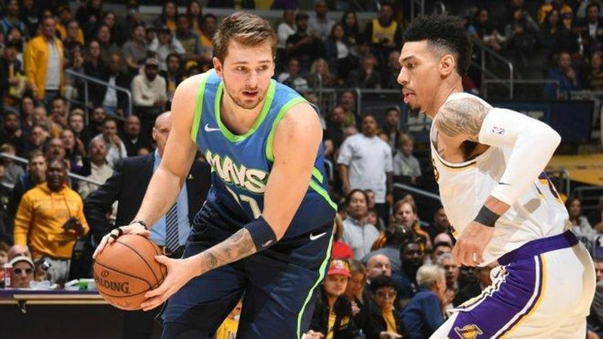 Doncic acaba con la racha de victorias de los Lakers