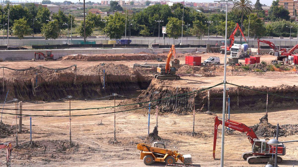 Las obras avanzan a buen ritmo en la costrucción del nuevo Arena.