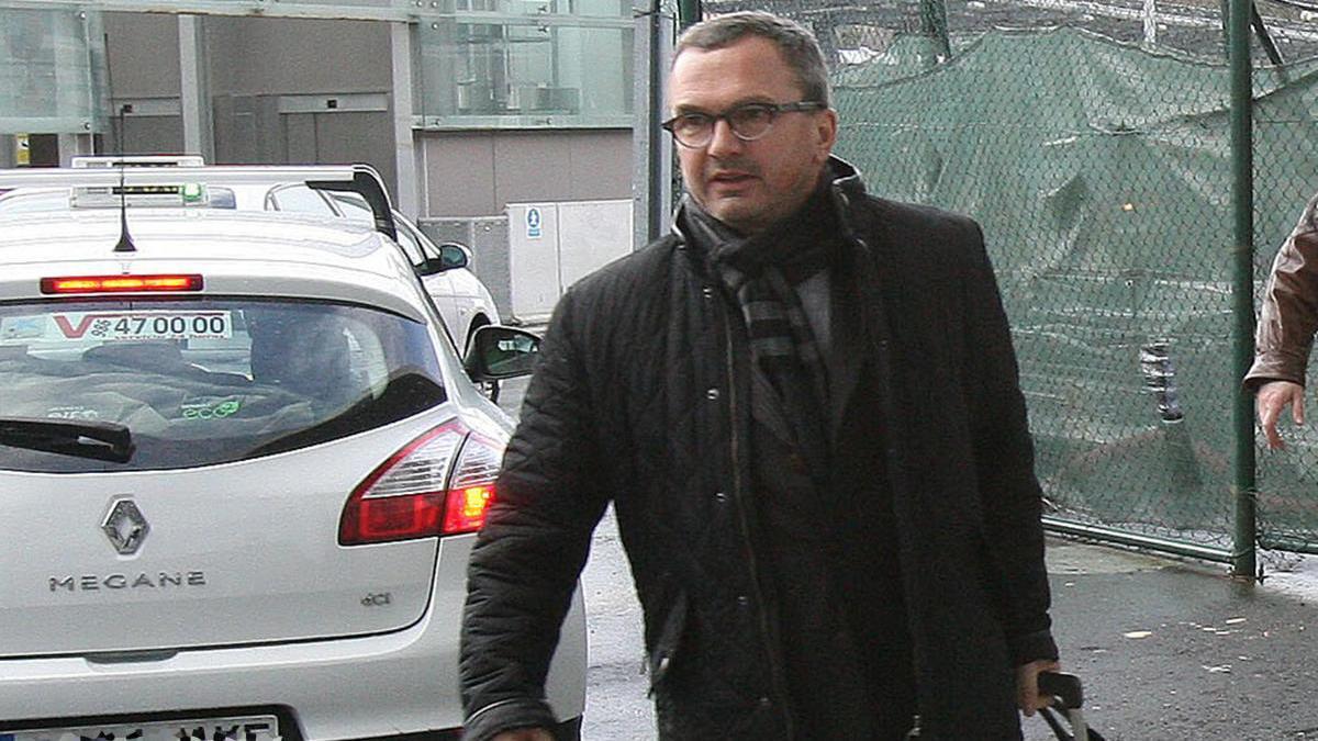 Denis Martin, a su llegada al aeropuerto de Penaidor en 2014 // Ricardo Grobas