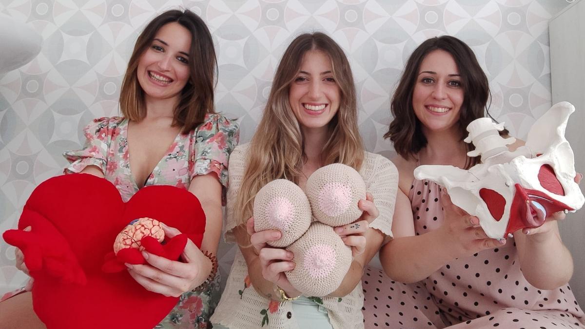 María Serrano, Ana Fábregas e Irene Yera, las emprendedoras de la 'start up' MIA Acompañamiento en el Parto y el Embarazo.