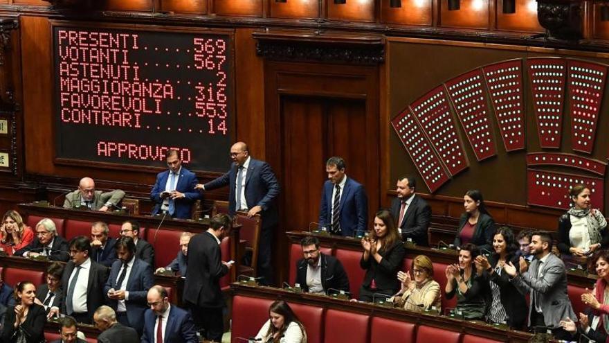 Italia avala la ley para reducir el número de parlamentarios