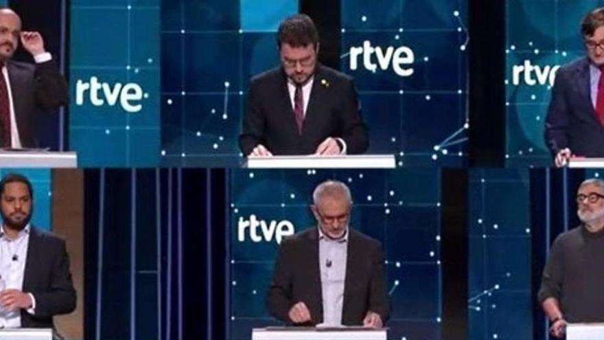 Cruce de acusaciones en el debate de TVE de cara al 14-F