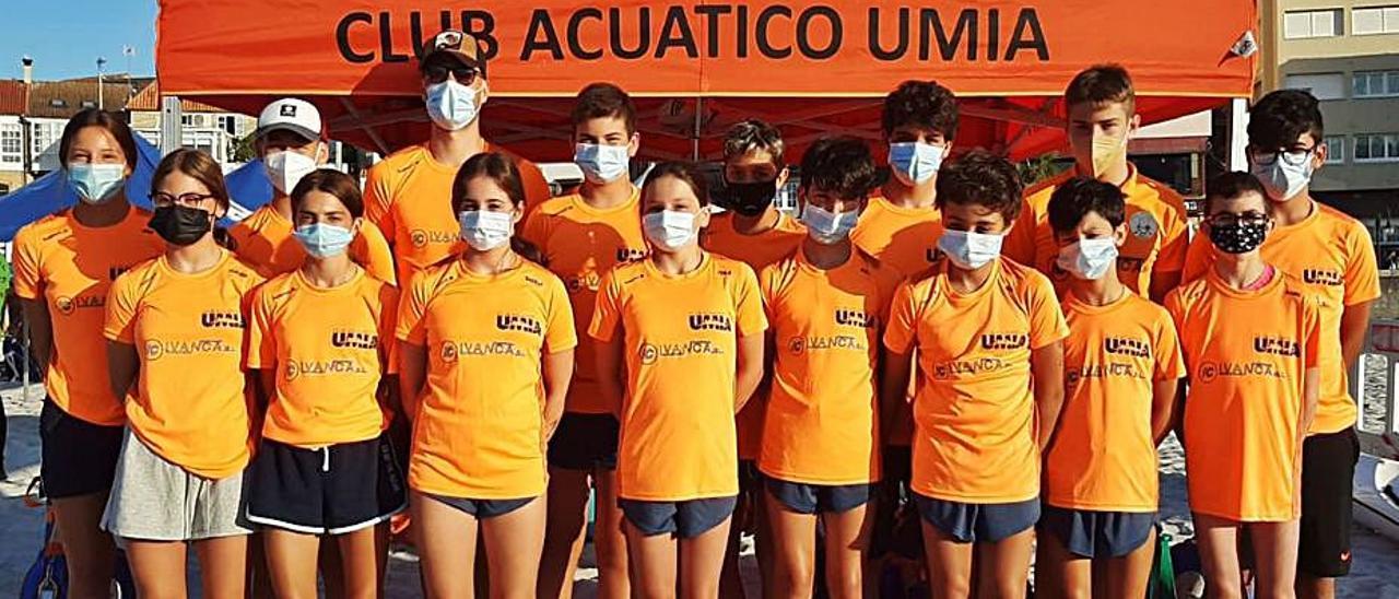 Representantes del CA Umia en el Campeonato de España. |  // FDV