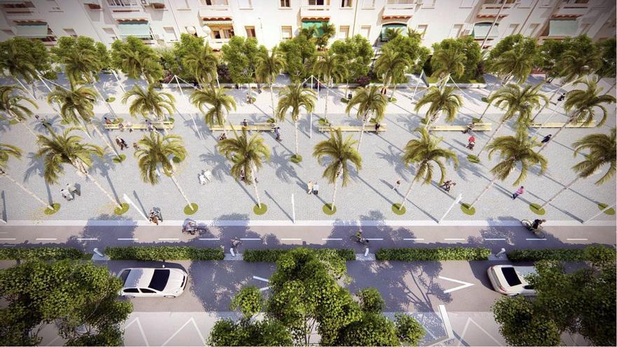 El Ayuntamiento de Alicante inicia la reurbanización de la avenida Padre Esplá