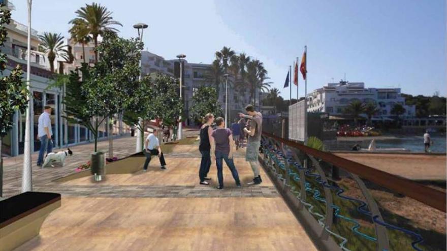 Cinco meses de obras para la reforma del paseo marítimo de es Canar