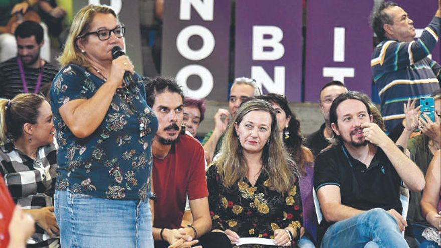 """Meri Pita sostiene que la """"desconfianza"""" debilita a Podemos en el Archipiélago"""