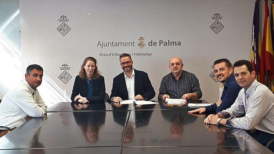 Urbanismo firma la recepción  de las obras de urbanización  de Son Ferragut
