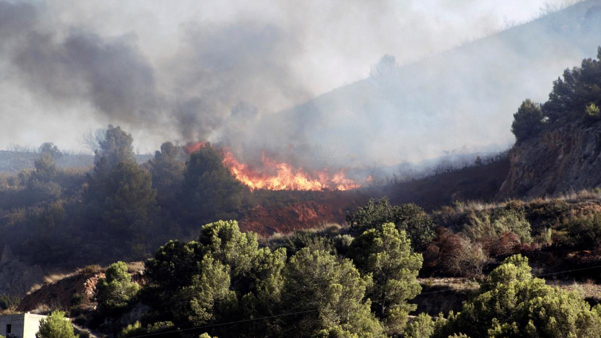 El incendio ha provocado el desalojo de unas 500 personas