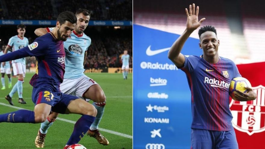 El Barça envia Yerry Mina i André Gomes a l'Everton