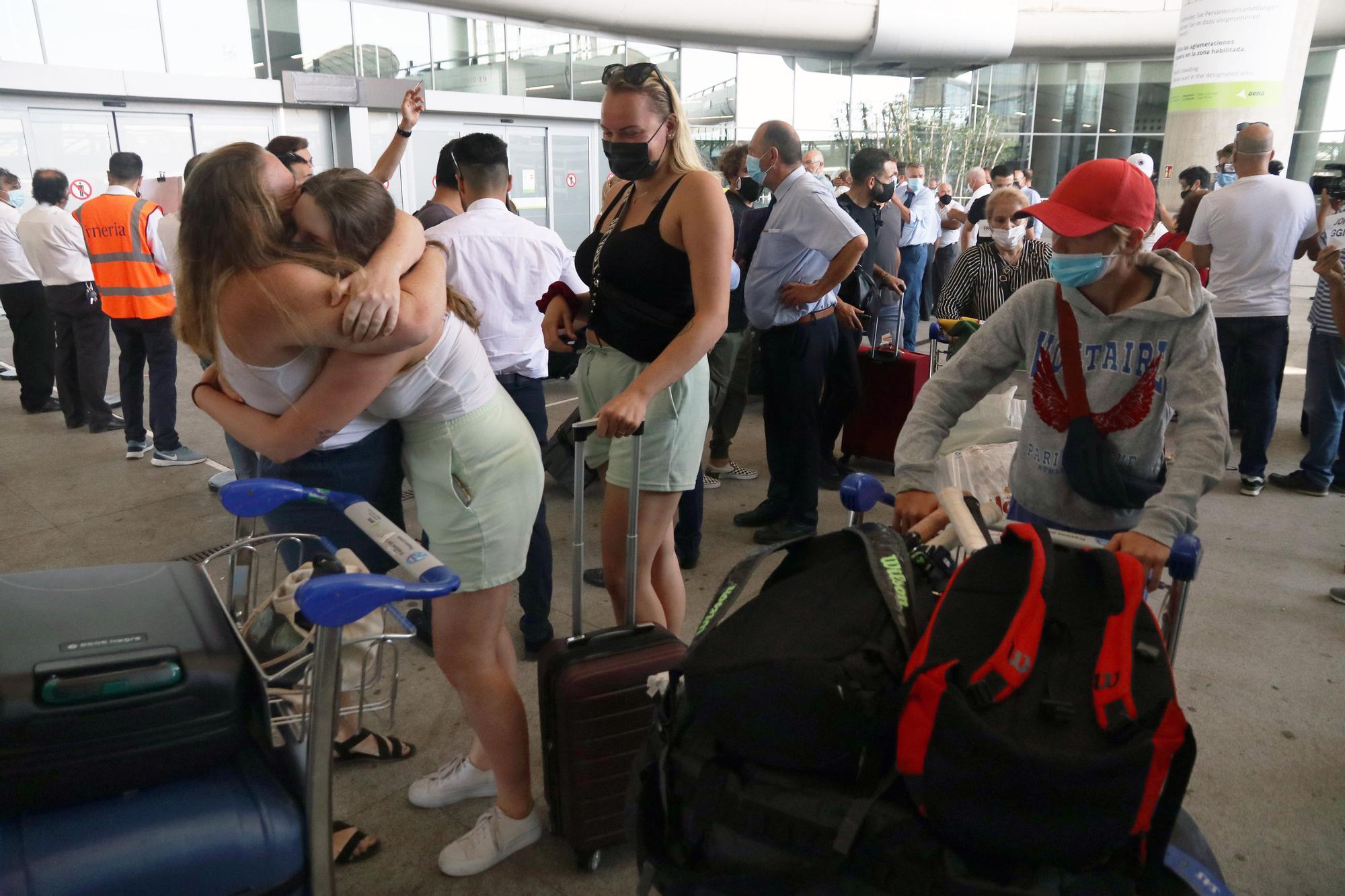 Llegada de turistas británicos al aeropuerto de Málaga en la segunda quincena de julio de 2021