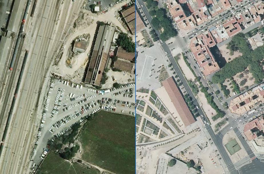 Parc Central: antes y después