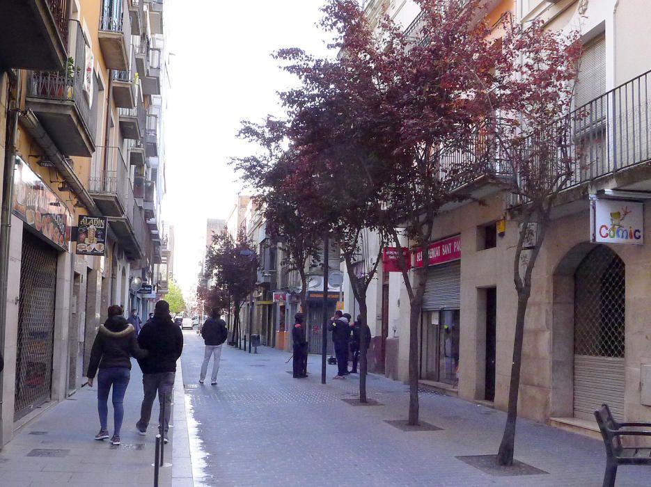 Operatiu antidroga en un carrer del centre de Figueres