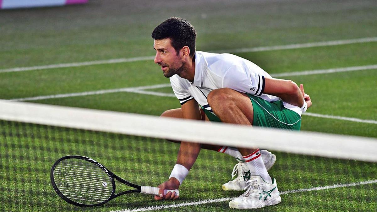 Novak Djokovic La estrella en la inauguración de la pista central.