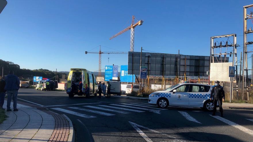 Herida una mujer atropellada en la rotonda del Alto de Vales de Lalín