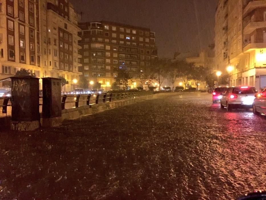 El túnel de Germanías, en Valencia, anoche.