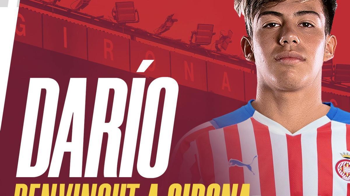 L'extrem Darío Sarmiento arriba cedit al Girona